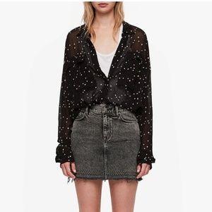 All Saints Amari Star Shirt - Sheer Button Down
